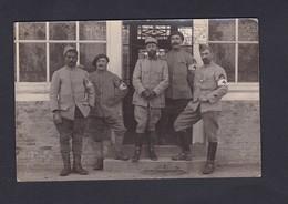 Carte Photo Guerre 14-18 Infirmerie Du 54 54è Regiment Infanterie Territoriale 4è Bataillon ( Animée 41808) - Guerra 1914-18