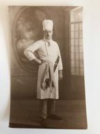 Foto Photo Ak Une Kok Cuisinier Couteaux De Cuisine Paris - Profesiones