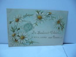 DU BOULEVARD VOLTAIRE JE VOUS ENVOIE CES FLEURS CPA 1907 - Blumen