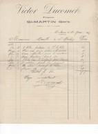 574 FACTURE  2 VICTOR DUCOMET FORGERON  1923  Saint MARTIN  GERS 32 - Petits Métiers