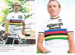 2 PHOTOS DE CYCLISME - DEDICACEES - CRIQUIELION - ZOOTEMELK - - Cycling