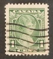 "CANADA YT 173 OBLITÉRÉ ""PRINCESSE ELISABETH"" ANNÉE 1935 - Gebruikt"