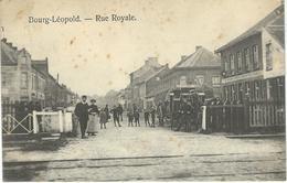 BOURG-LEOPOLD : Rue Royale - RARE CPA - Cachet De La Poste 1914 - Leopoldsburg