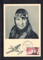 """"""" MARYSE BASTIE """" Sur Carte Maximum De 1955 N° YT PA 34. Parfait état. Voir Les 2 Scans. CM - 1950-59"""