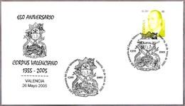 650 ANIV. CORPUS VALENCIANO - EL SANTO GRIAL. Valencia 2005 - Christianisme
