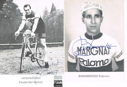 2 PHOTOS DE CYCLISME - DEDICACEES - BAHAMONTES - CADIOU - - Cycling