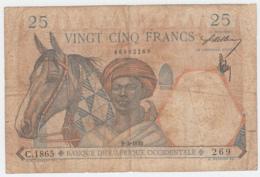 French West Africa 25 Francs 1939 VG Pick 22 - Otros – Africa