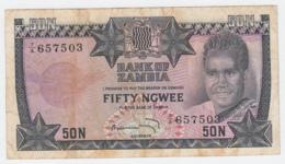 Zambia 50 Ngwee 1973 VF Pick 14 - Zambia