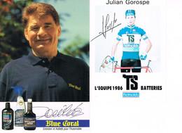 2 PHOTOS DE CYCLISME - DEDICACEES - POULIDOR - GOROSPE - - Cycling