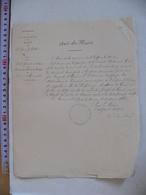 Vieux Papier VENDEE Mairie De SAINT SULPICE LE VERDON 1880 Demande De Bourse école Spéciale Militaire Famille DE GOUE - Historical Documents