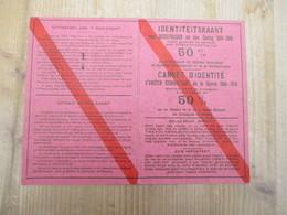 Identiteitskaart Oud Strijder Groote Oorlog Beveren Waas Tijdens Tweede Oorlog Korting Spoorwegen Ancien Combattant - Transportation Tickets
