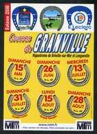 """Programme Affichette """" Course De Granville Bréville """" 2016 Manche Normandie - Hippisme Course De Chevaux - Programs"""
