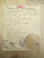 Personalausweis Eenzelvigheidsbewijs 1915 Lokeren Kieldrecht - Décrets & Lois