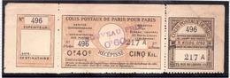FRANCE COLIS POSTAUX Paris Pour Paris - My. 55 Complet - Neufs