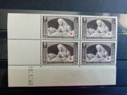 FRANCE.1940. N°460 Cd 40. CROIX ROUGE  .NEUFS Côte Yvert 80 €. - 1940-1949