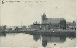 HOUDENG-AIMERIES ; Eglise St-Jean-Baptiste Et Le Canal - Cachet De La Poste 1907 - La Louvière