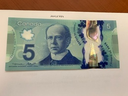 Canada 5 Five Dollar Uncirc. Polymer Banknote 2013 #2 - Canada