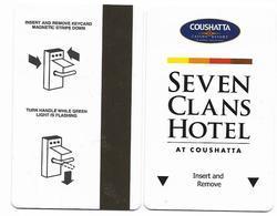 Seven Clans Casino & Hotel At Coushatta, Kinder, LA,  U.S.A., Used Magnetic Hotel Room Key Card # Sevenclans-1 - Hotelkarten