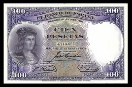 # # # Banknote Spanien (Spain) 100 Pesetas 1931 # # # - [ 1] …-1931 : Premiers Billets (Banco De España)