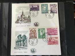 FDC 1205/1211 UIT 1962 CULTUUR STEMPEL BRUXELLES-BRUSSEL COTE 11.00€ - 1961-70