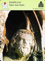 RAMPILLON  (77) - Eglise Saint Eliphe - Photo - FICHE GEOGRAPHIQUE - Ed. Larousse-Laffont - Géographie