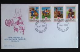 Ghana, Uncirculated Cover, « POPE JOHN PAUL II », « Visit », 1980 - Ghana (1957-...)