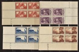 FRANCE - N° 454/457** - Série Des Maréchaux - JOFFRE (1852-1931) - FOCH (1851-1929) - GALLIENI (1849-1916). - 1940-1949
