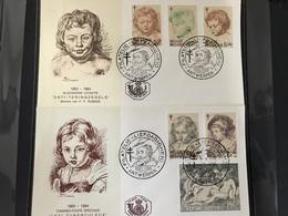 FDC 1272/1277 UIT 1963 RUBENS STEMPEL ANTWERPEN - 1961-70