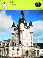 RUE (Somme)  - Le Bourg - Photo Du Beffroi - FICHE GEOGRAPHIQUE - Ed. Larousse-Laffont - Géographie