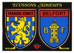 D90  BELFORT   CARTE AVEC  ÉCUSSON ADHÉSIF........ BLASONS - Belfort - Ville