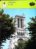 SOISSONS (Aisne) - Catédrale  - Photo  - FICHE GEOGRAPHIQUE - Ed. Larousse-Laffont - Géographie