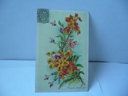 GIROFLÉES RAVENELLES THÈME FLEURS CPA 1907 - Blumen