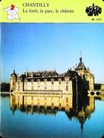 CHANTILLY  -  Photo Château  - FICHE GEOGRAPHIQUE - Ed. Larousse-Laffont - Géographie