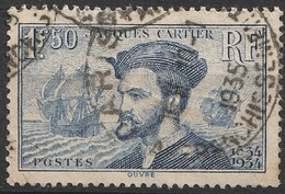 France 1934 N° 297 Jacques Cartier (G15) - Francia