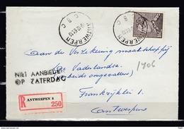 848A Op Aangetekend Briefstuk Gestempeld ANTWERPEN C 8 C - 1936-1951 Poortman
