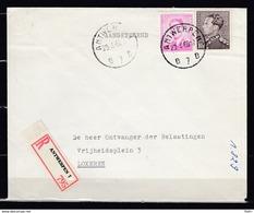 848A Op Aangetekende Brief Gestempeld ANTWERPEN B 7 B - 1936-1951 Poortman