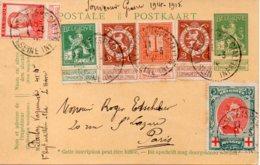 Cpa Belge Avec Timbres Souvenir Guerre 1914/1915 - Belgique