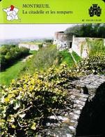 MONTREUIL  (62 Pas De Calais)  -  Photo Des Remparts  - FICHE GEOGRAPHIQUE - Ed. Larousse-Laffont - Géographie