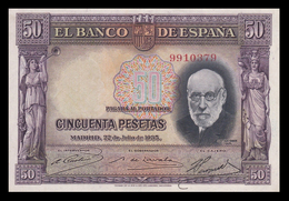 # # # Seltene Banknote Spanien (Spain) 50 Pesetas 1935 AUNC # # # - 50 Peseten