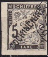 COCHINCHINE - 5 C. Taxe Avec Une Griffe COCHINCHINE Non Référencé Défectueux FAUX? - Gebraucht