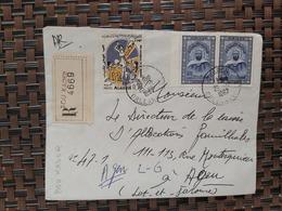 Bou-Kader Algérie Pour Agen France ( Le 25 12 1967) Algérie - Algeria (1962-...)