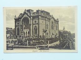 Synagogue 46 Ungvar Uzhhorod Hungary  Synagoge Judaica Jewish Izraelita Zsido Zsinagoga Templom Tempel Sinagogue 1916 - Judaisme