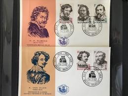 FDC 1322/1326 UIT 1965 100 JAAR A.S.L.K. BPOST STEMPEL BRUSSEL-BRUXELLES - 1961-70