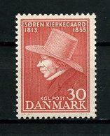 DANEMARK 1955 N° 366 ** Neuf MNH  Superbe Philosophe Théologien Soren Kierkegaard - Dänemark