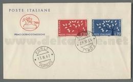 C6729 Italia FDC 1962 EUROPA CEPT 7 EMISSIONE 2 VALORI CAVALLINO - F.D.C.