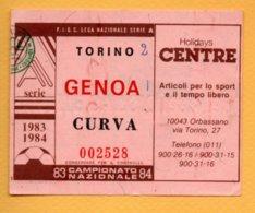 Biglietto Ingresso Stadio Torino-Genoa 1983/84 - Tickets - Vouchers
