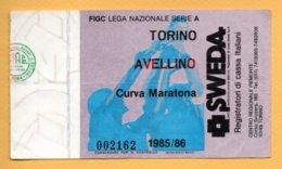 Biglietto Ingresso Stadio Torino-Avellino 1985/86 - Tickets - Vouchers