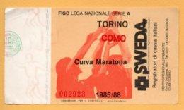 Biglietto Ingresso Stadio Torino-Como 1985/86 - Tickets - Vouchers