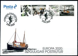 Europa 2020 - Foroyar Féroés - Ancienne Route Postale - Soguligar Postrutur - FDC - Europa-CEPT