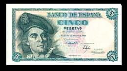 # # # Banknote Spanien (Spain) 5 Pesetas 1948 UNC- # # # - [ 3] 1936-1975 : Regime Di Franco